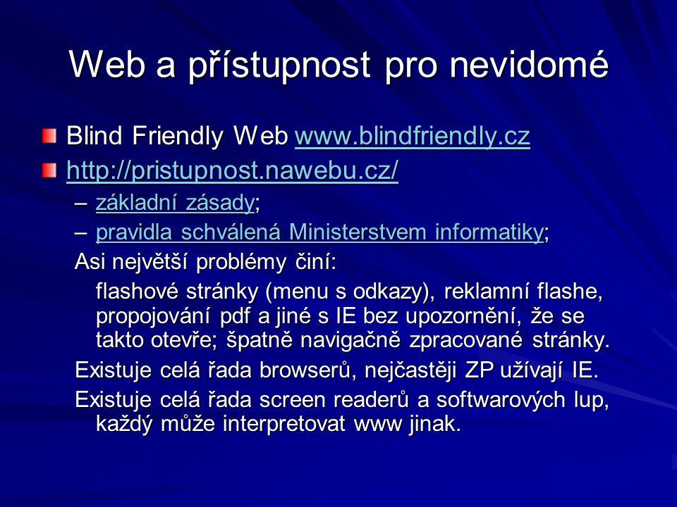 Web a přístupnost pro nevidomé