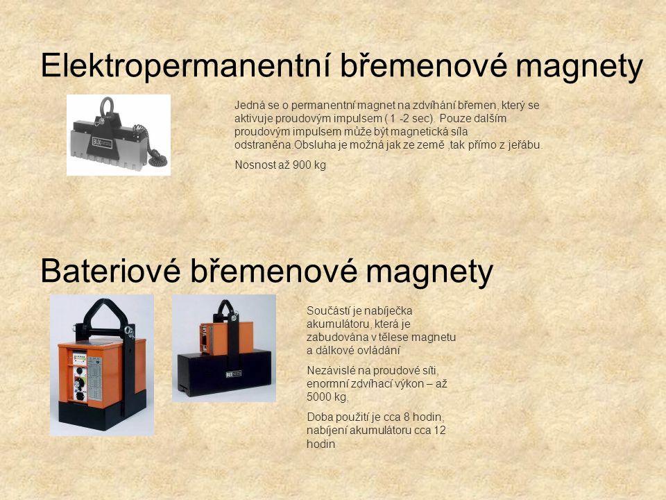 Elektropermanentní břemenové magnety