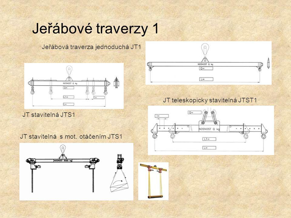 Jeřábové traverzy 1 Jeřábová traverza jednoduchá JT1