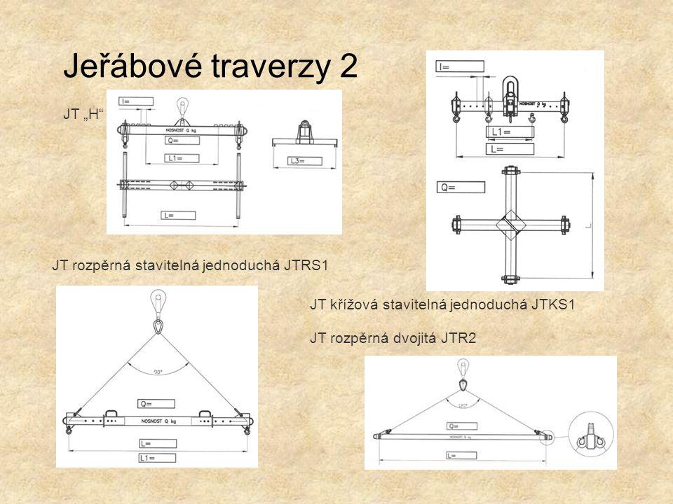 """Jeřábové traverzy 2 JT """"H JT rozpěrná stavitelná jednoduchá JTRS1"""