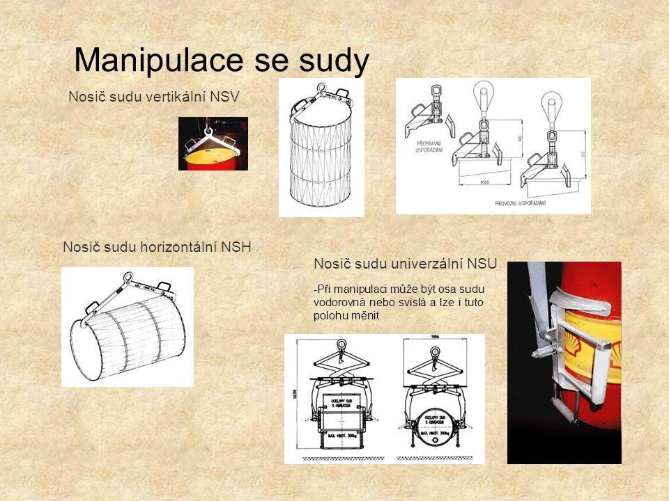 Manipulace se sudy Nosič sudu vertikální NSV