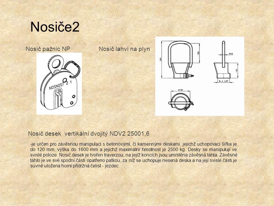 Nosiče2 Nosič pažnic NP Nosič lahví na plyn