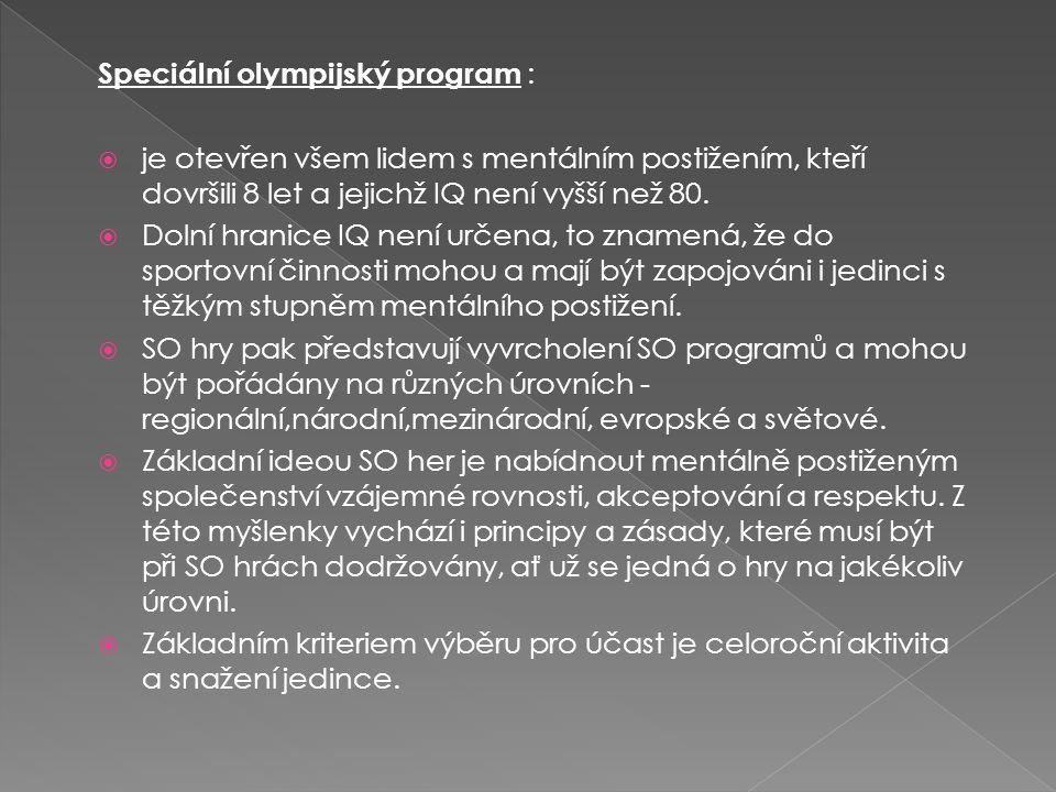 Speciální olympijský program :