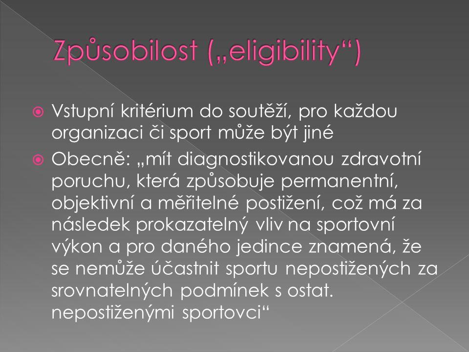 "Způsobilost (""eligibility )"