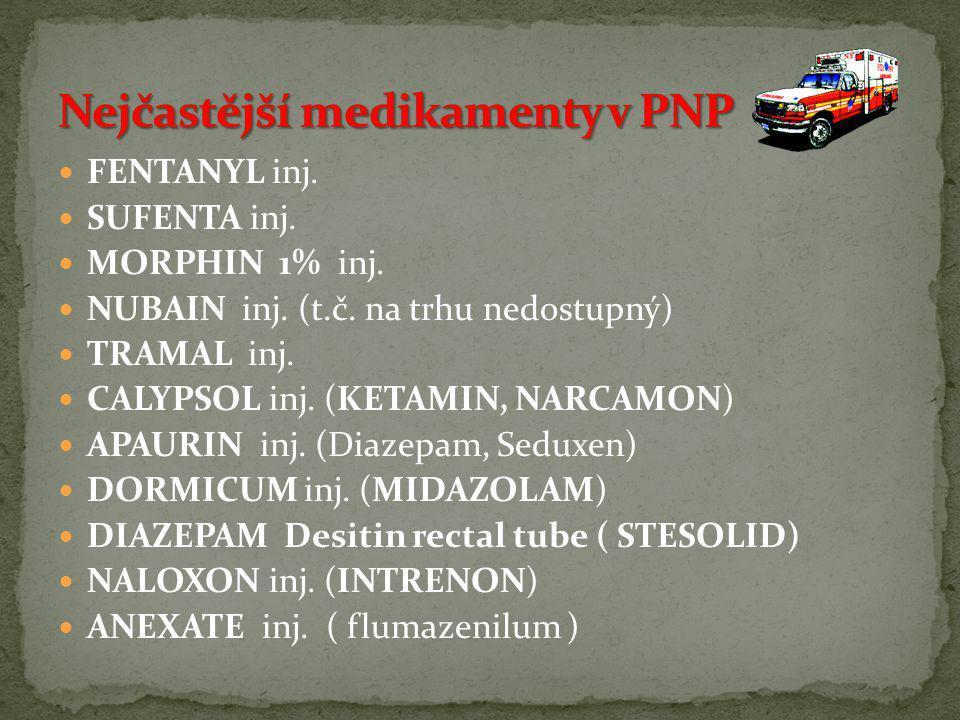 Nejčastější medikamenty v PNP