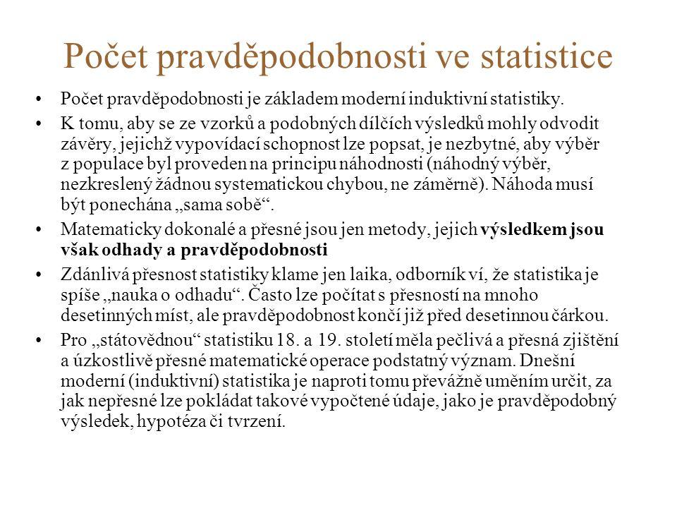 Počet pravděpodobnosti ve statistice