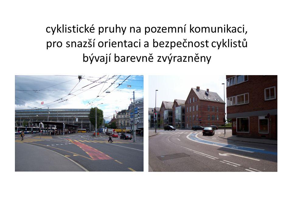 cyklistické pruhy na pozemní komunikaci,