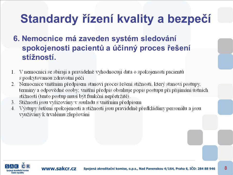 Standardy řízení kvality a bezpečí