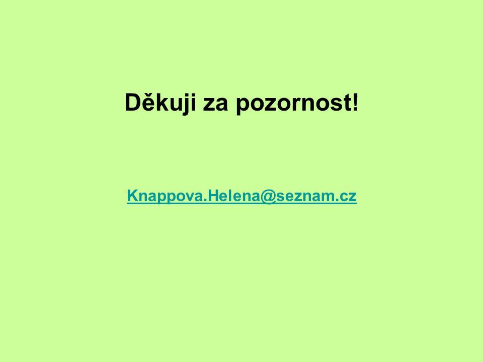 Děkuji za pozornost! Knappova.Helena@seznam.cz