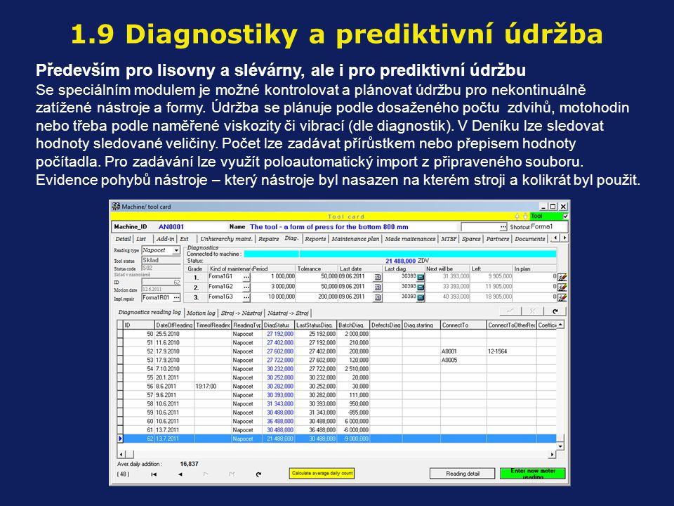 1.9 Diagnostiky a prediktivní údržba