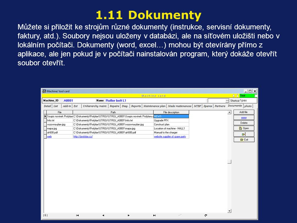 1.11 Dokumenty