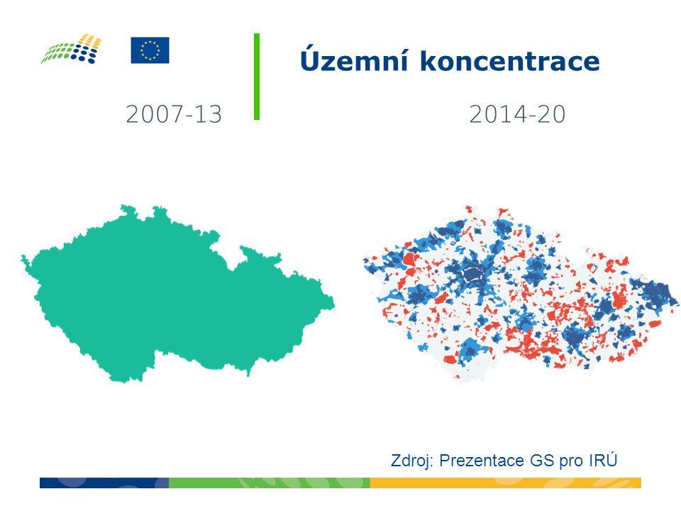 Územní koncentrace Zdroj: Prezentace GS pro IRÚ