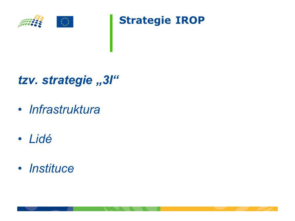 "Strategie IROP tzv. strategie ""3I Infrastruktura Lidé Instituce"