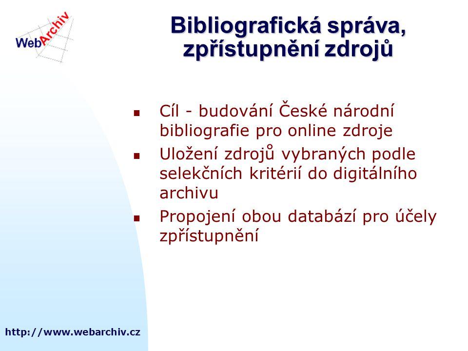 Bibliografická správa, zpřístupnění zdrojů