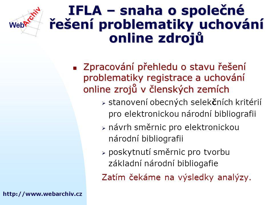 IFLA – snaha o společné řešení problematiky uchování online zdrojů