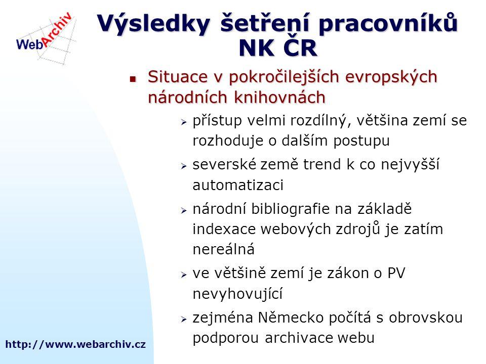 Výsledky šetření pracovníků NK ČR