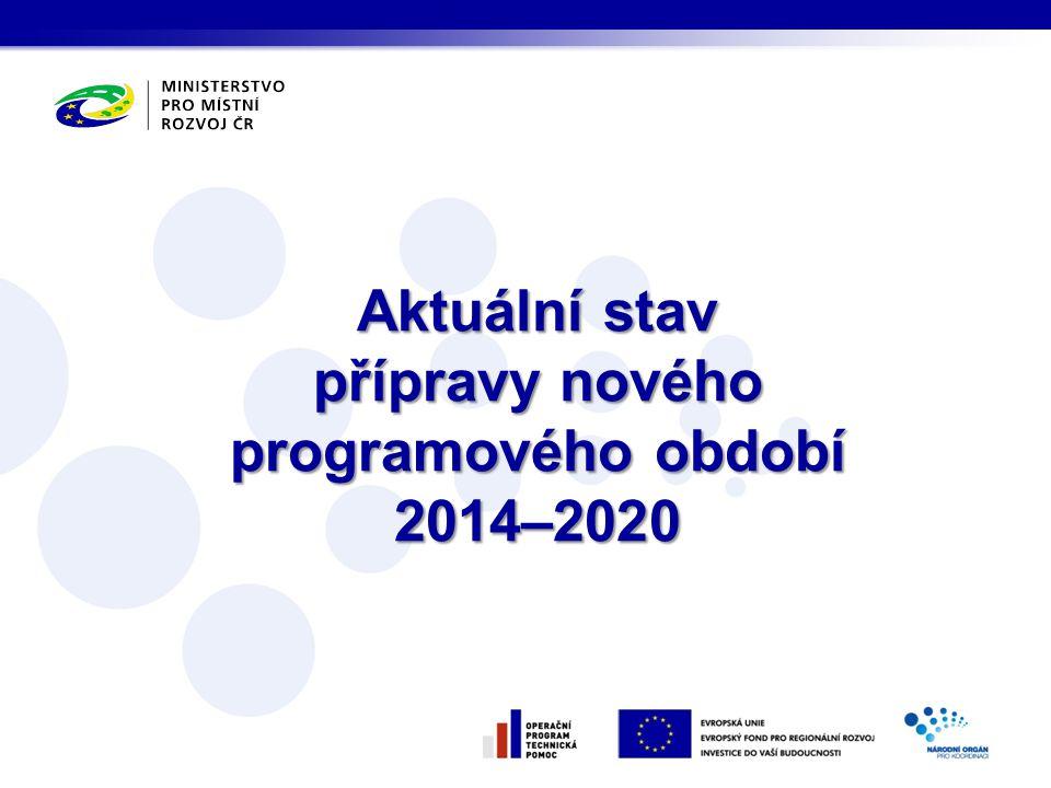 přípravy nového programového období