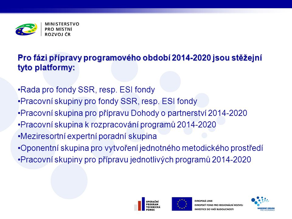 Rada pro fondy SSR, resp. ESI fondy
