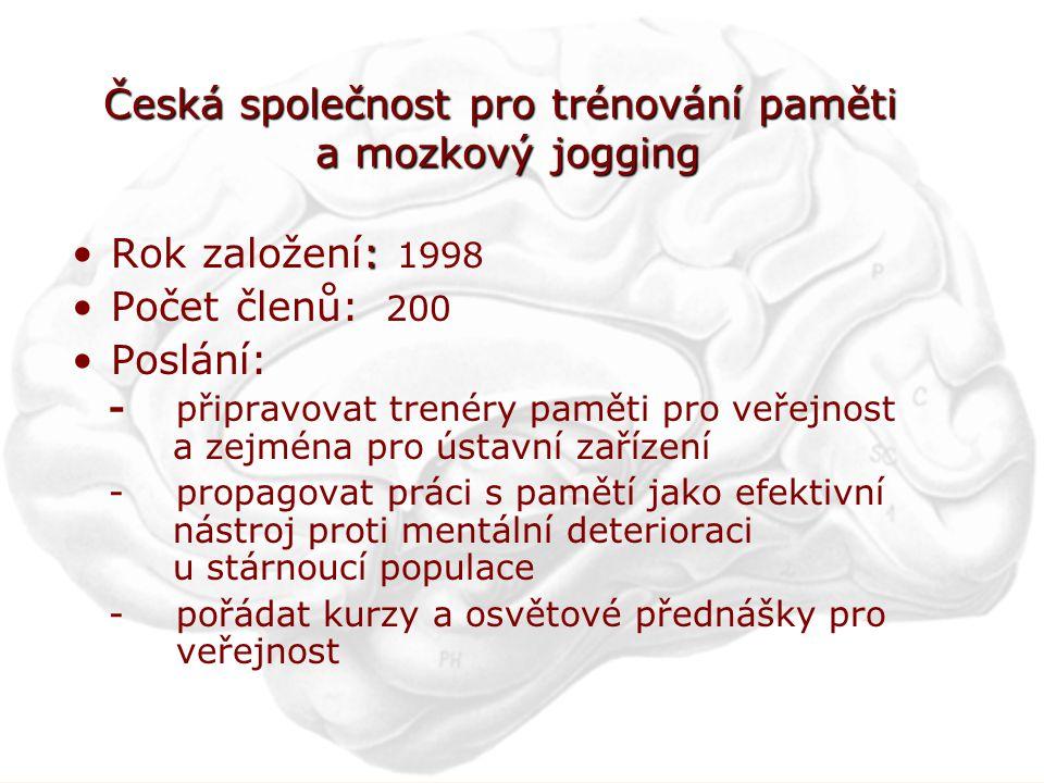 Česká společnost pro trénování paměti a mozkový jogging