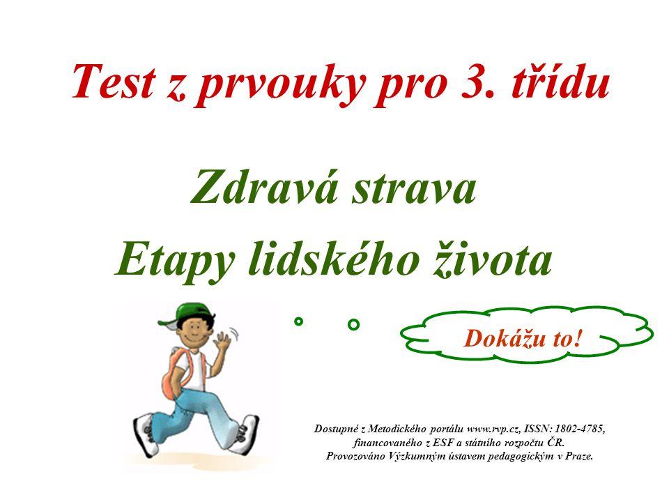 Test z prvouky pro 3. třídu