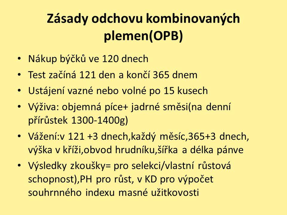 Zásady odchovu kombinovaných plemen(OPB)