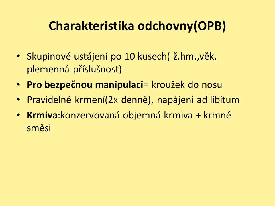 Charakteristika odchovny(OPB)