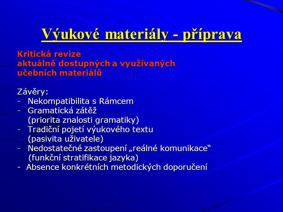Výukové materiály - příprava