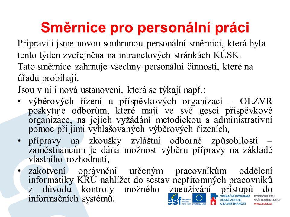 Směrnice pro personální práci