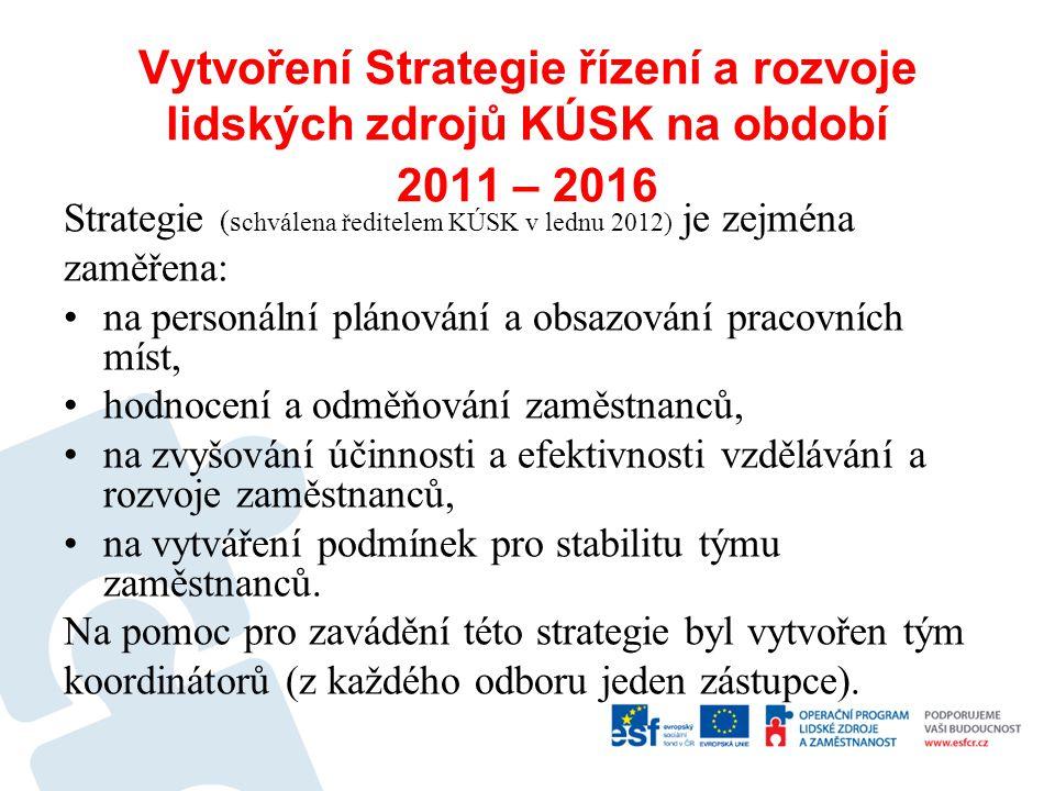 Vytvoření Strategie řízení a rozvoje lidských zdrojů KÚSK na období 2011 – 2016