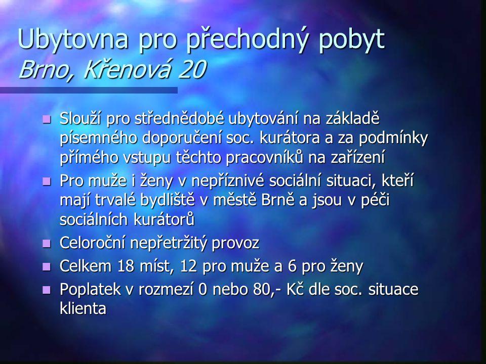 Ubytovna pro přechodný pobyt Brno, Křenová 20