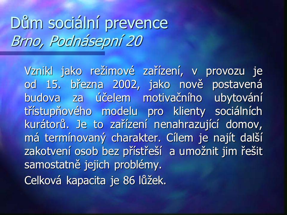 Dům sociální prevence Brno, Podnásepní 20