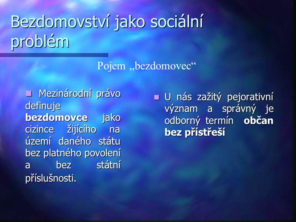 Bezdomovství jako sociální problém