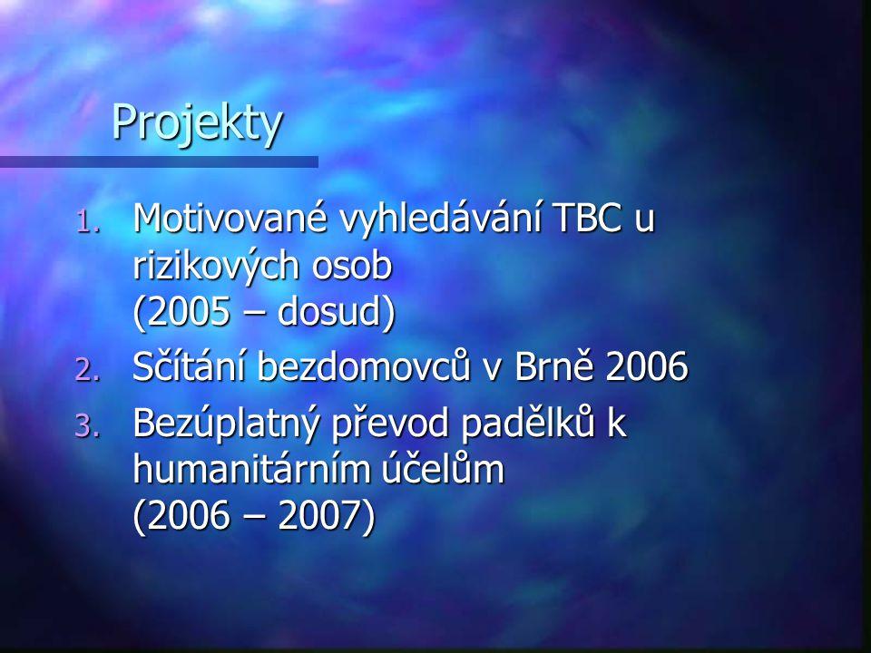Projekty Motivované vyhledávání TBC u rizikových osob (2005 – dosud)