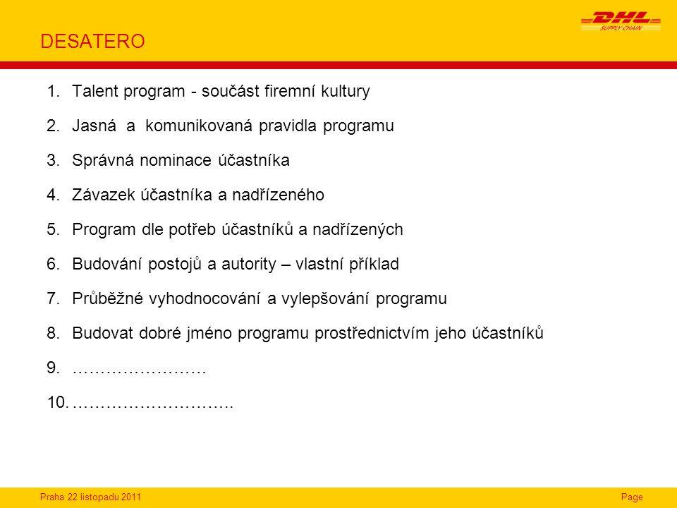 DESATERO Talent program - součást firemní kultury