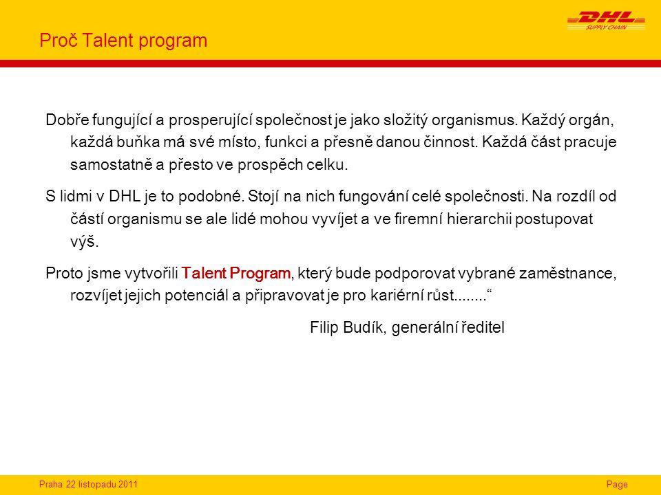 Proč Talent program