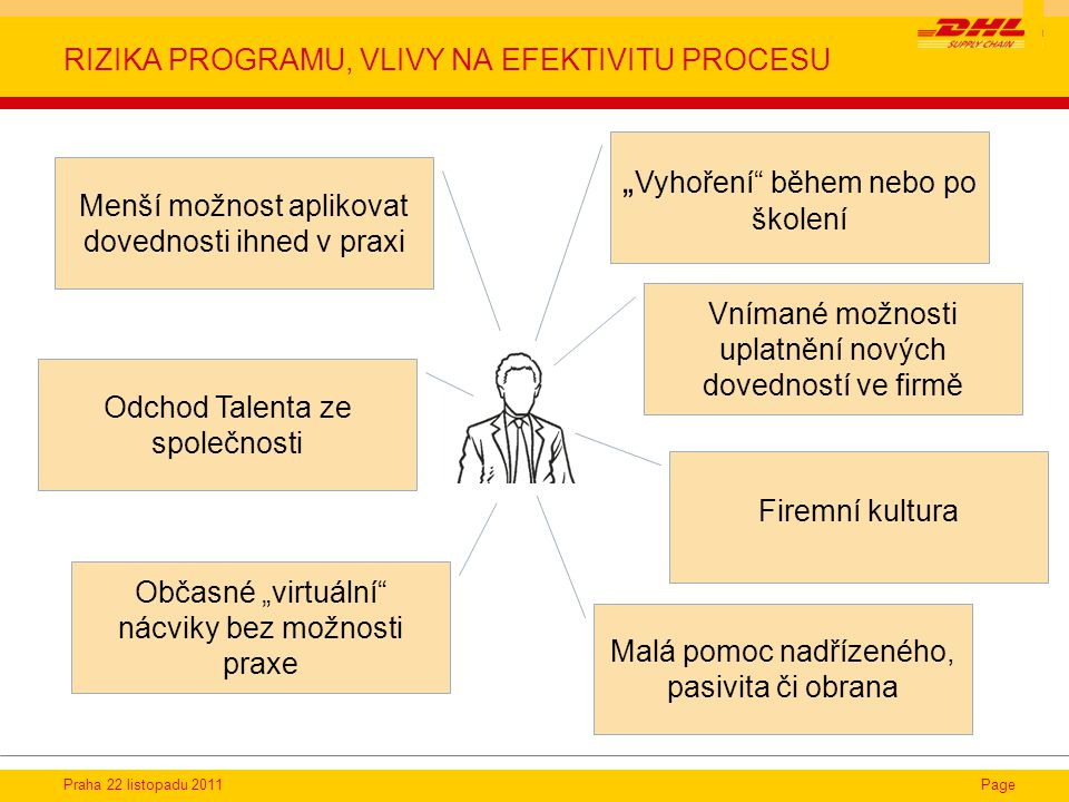rizika programu, vlivy na efektivitu procesu