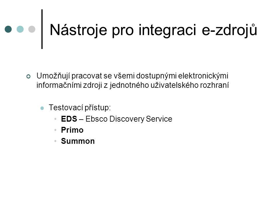 Nástroje pro integraci e-zdrojů