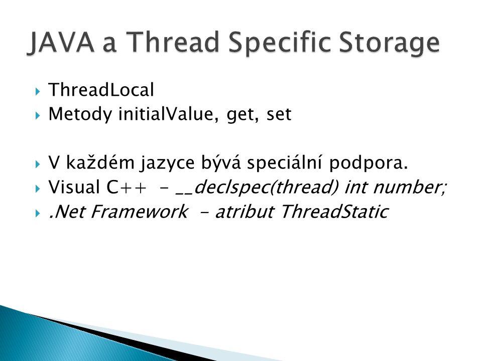 JAVA a Thread Specific Storage