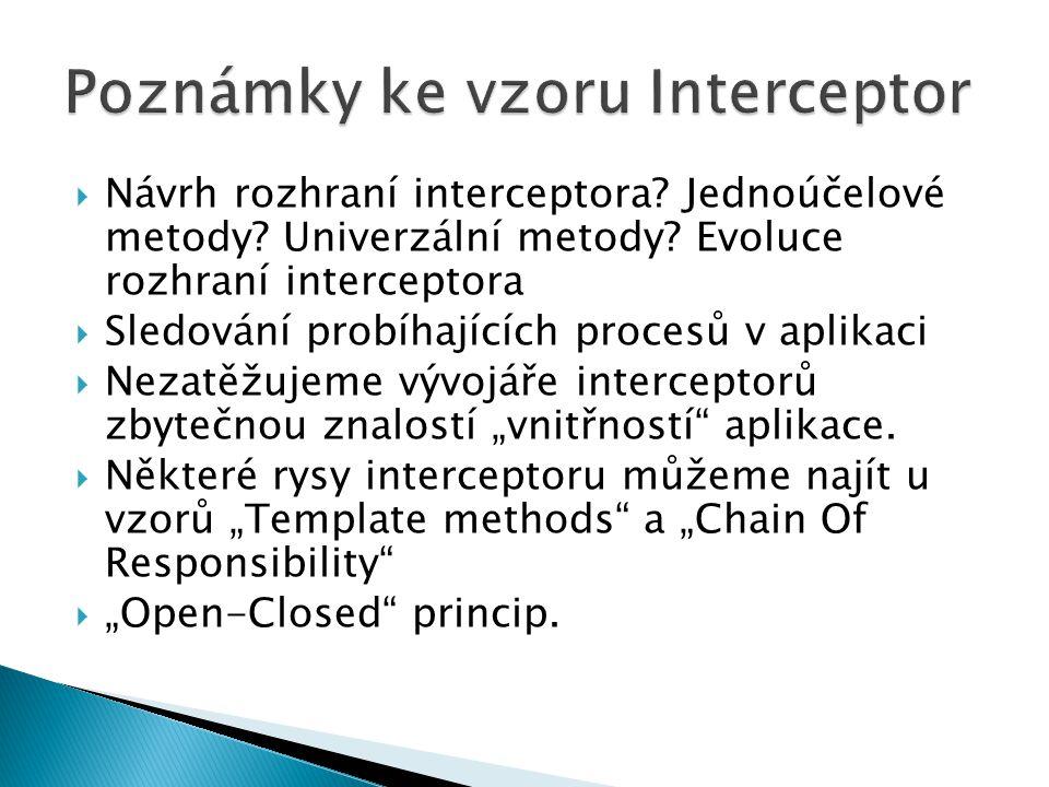 Poznámky ke vzoru Interceptor