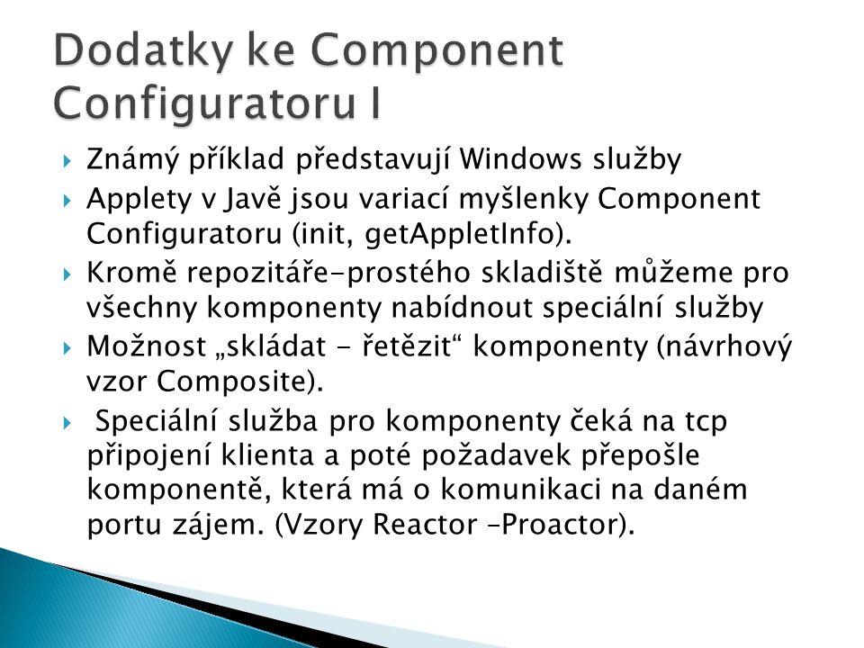 Dodatky ke Component Configuratoru I