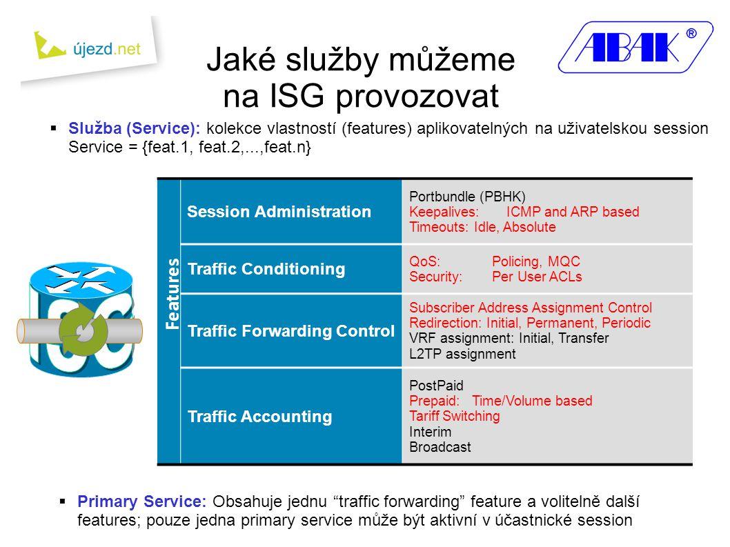 Jaké služby můžeme na ISG provozovat