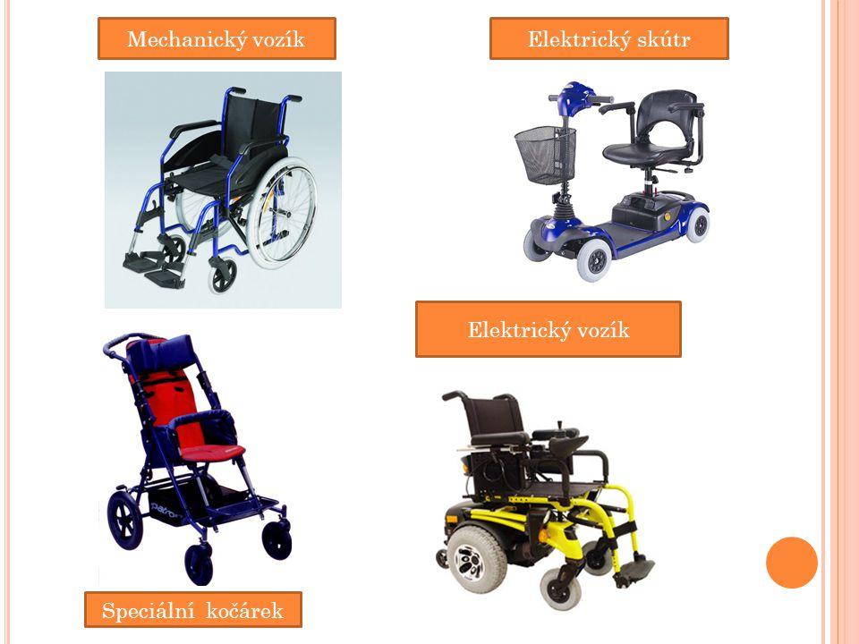 Mechanický vozík Elektrický skútr Elektrický vozík Speciální kočárek