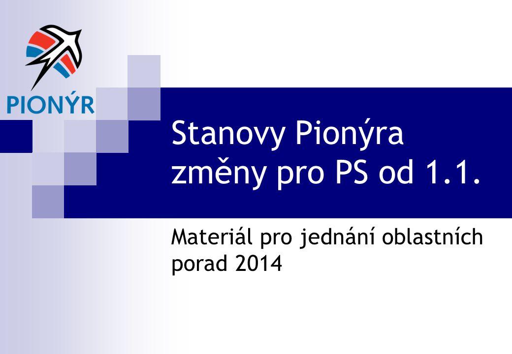 Stanovy Pionýra změny pro PS od 1.1.