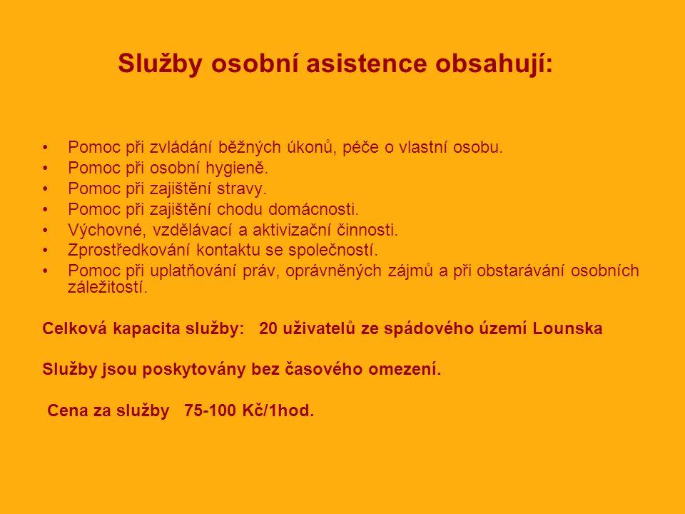Služby osobní asistence obsahují:
