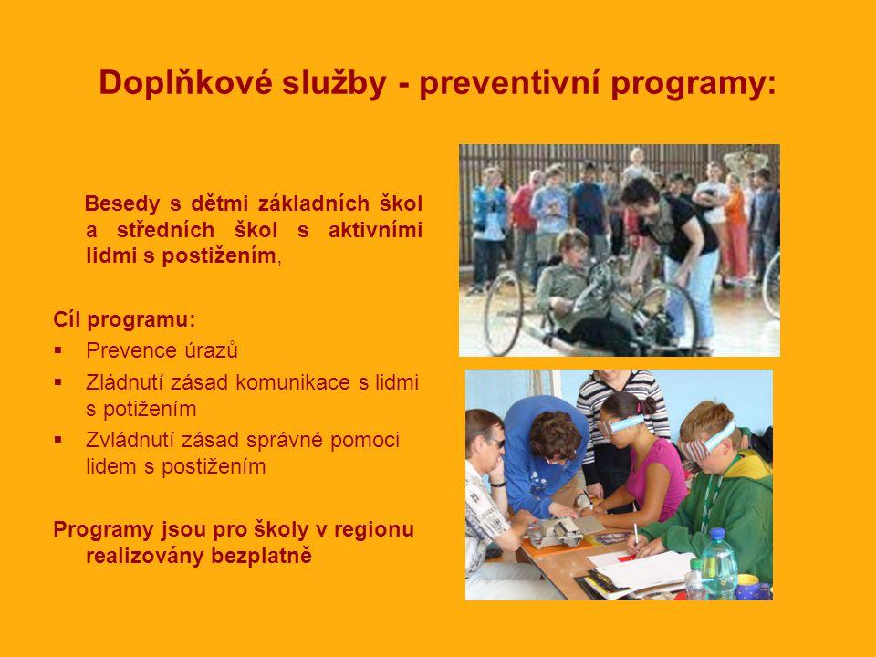 Doplňkové služby - preventivní programy: