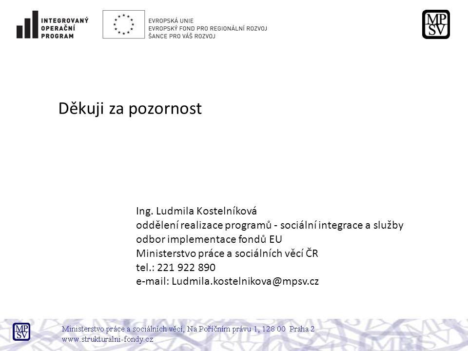 Děkuji za pozornost Ing. Ludmila Kostelníková