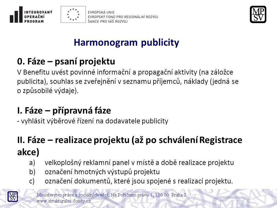 Harmonogram publicity