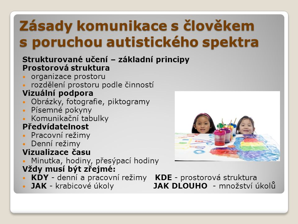 Zásady komunikace s člověkem s poruchou autistického spektra