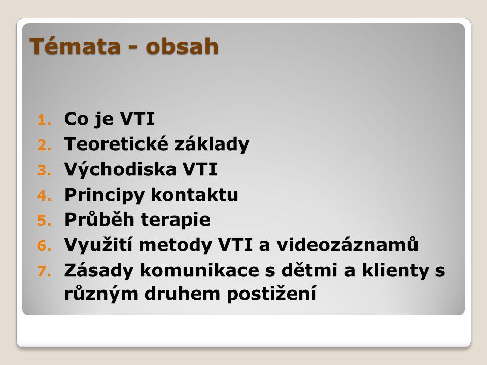 Témata - obsah Co je VTI Teoretické základy Východiska VTI