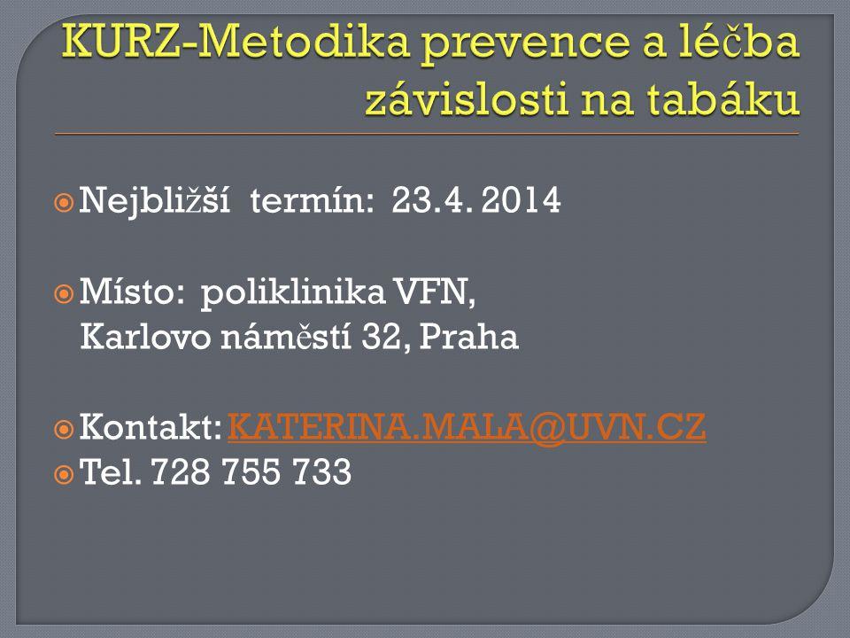 KURZ-Metodika prevence a léčba závislosti na tabáku